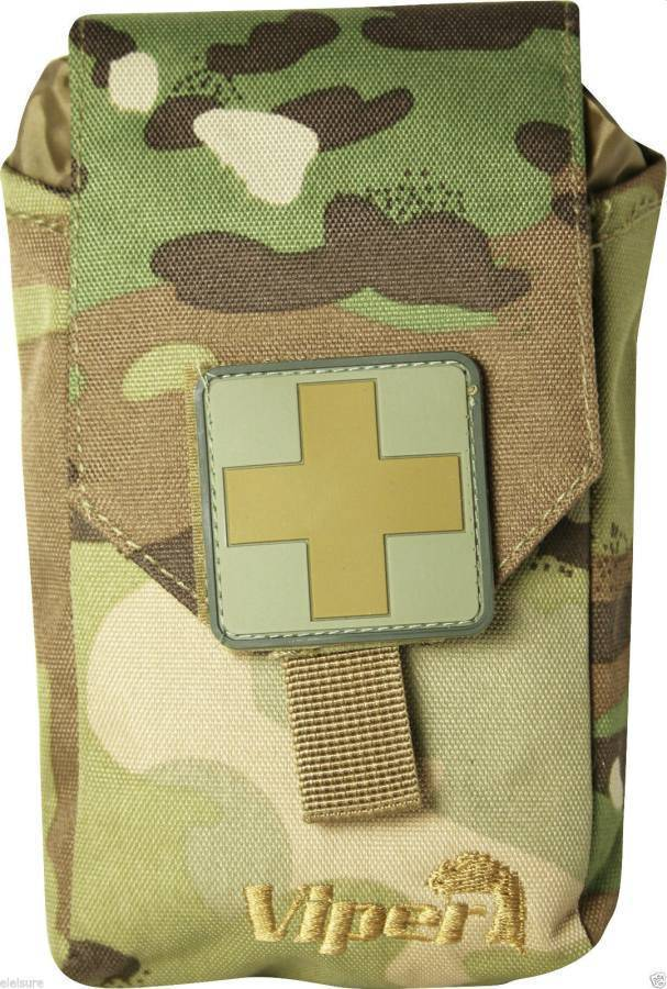 Viper First Aid Kit Fully Stocked Medical Kit Black Coyote Green Vcam