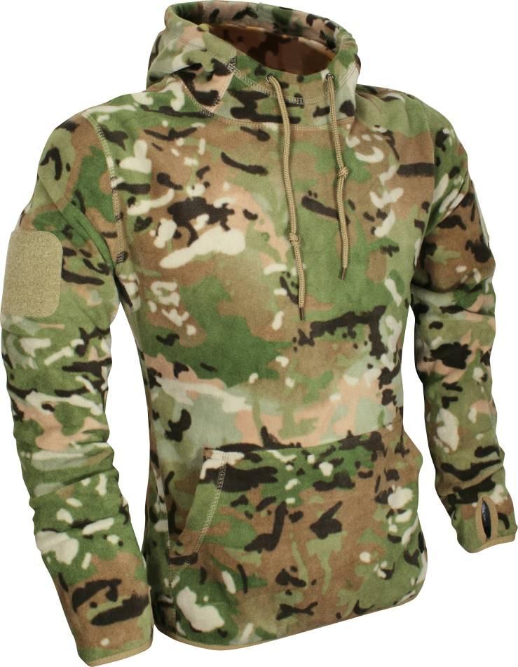X-Large, Green Viper TACTICAL Mens Fleece Hoodie