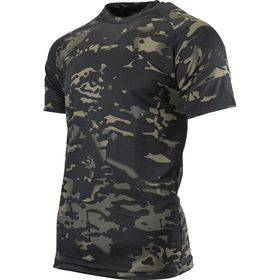 Mesh-tech T-Shirt V-Cam Black
